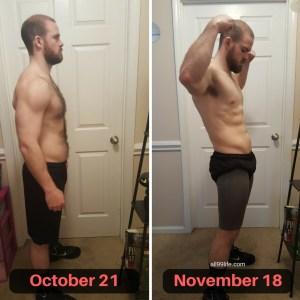 Side Progress October to November 18 Bigger Leaner Stronger Results