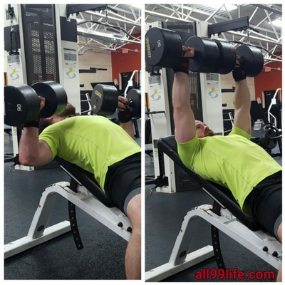 Incline Dumbbell Bench Press Chest Exercise