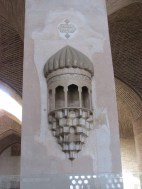 These sconces were on many of the columns and so intricate.