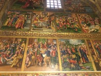 This church was entirely covered inside by paintings. This was one wall.