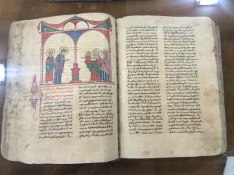 The adjoining museum had hand-written Bibles