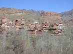 Village of Abyaneh nestled into the hillside