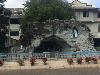 Small grotto just outside the catholic church