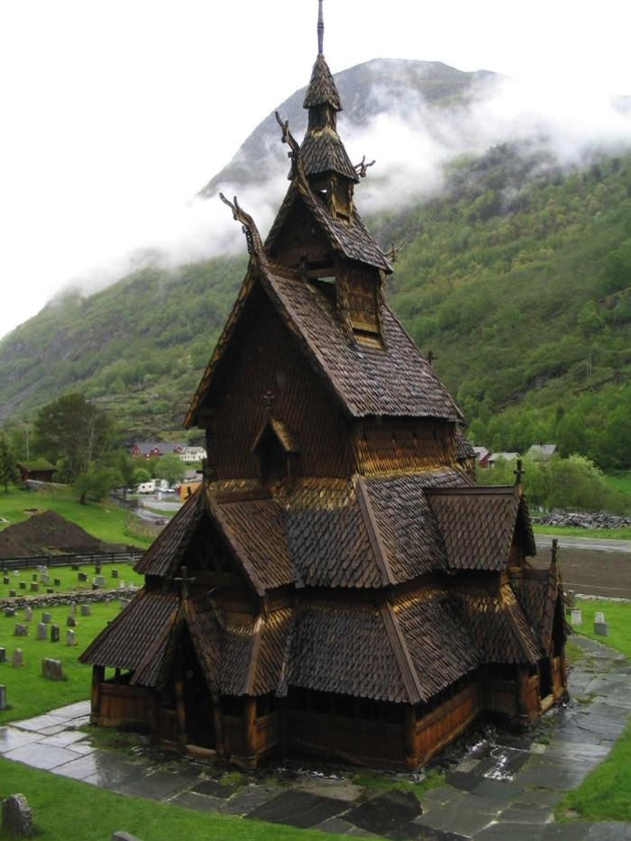 Καταπληκτικοί Χώροι Λατρείας Ναοί Borgund Stave Church in Norway