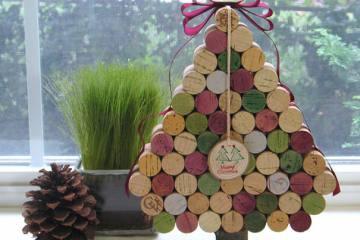 ιδέες για Χριστουγεννιάτικο Δέντρο Wine Cork Christmas Tree