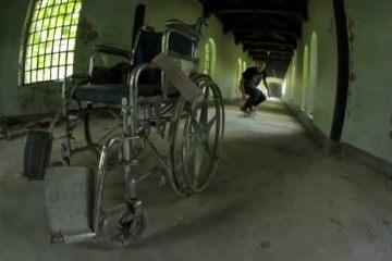 skateboard σε εγκαταλελειμμένο ψυχιατρείο