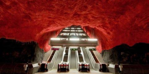 Το μετρό της Στοκχόλμης είναι έργο τέχνης stockholm metro allabout.gr