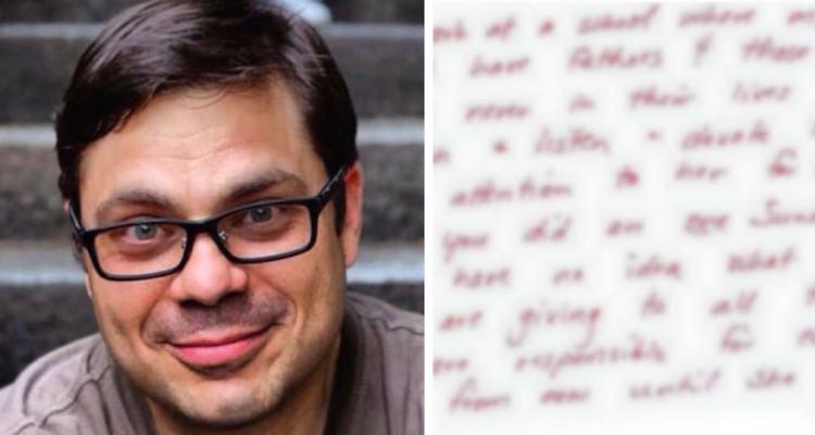Ένας άγνωστος δίνει σε έναν πατέρα ένα συγκινητικό γράμμα, αφού τον είχε δει μαζί με την κόρη του.