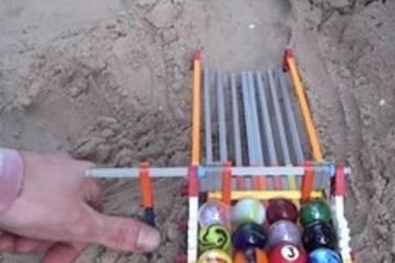 αγώνας των βόλων στην παραλία