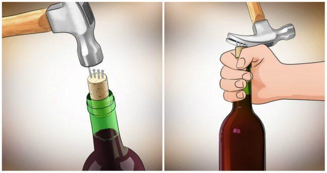 ανοίξετε ένα μπουκάλι κρασί ΧΩΡΙΣ ανοιχτήρι 8