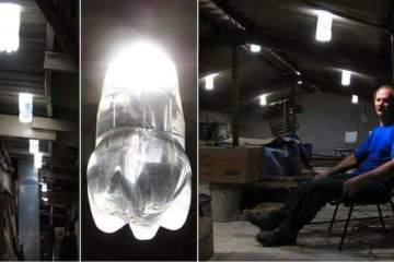 Δωρεάν φως με πλαστικό μπουκάλι