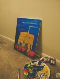 有時也會畫畫。