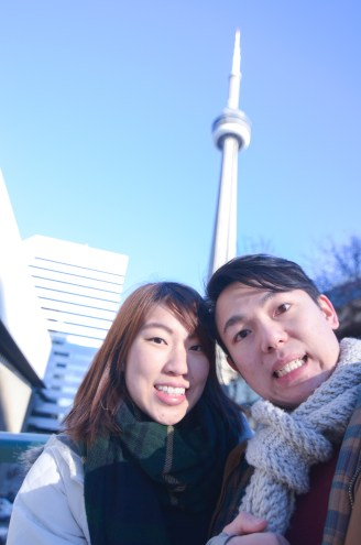 CN Tower. We just took some pictures outside and left. We are too cheap.