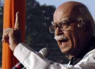 L K Advani giving speech at Belgaum