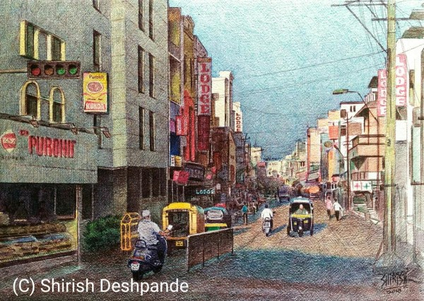 Shirish Deshpande ball point pen paintings