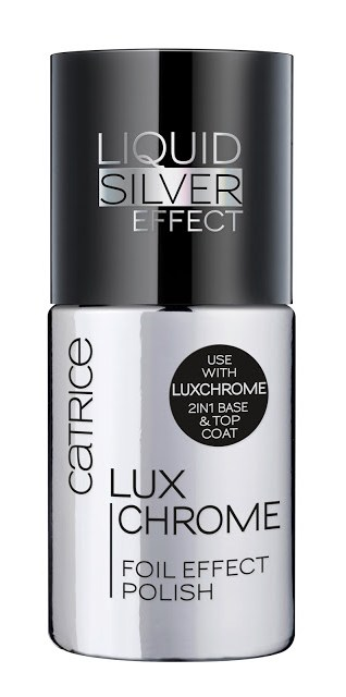 0705b 228441 catrice luxchrome foil effect polish 01 liquid silver front view closed - CATRICE ASSORTIMENT UPDATE VOORJAAR 2018
