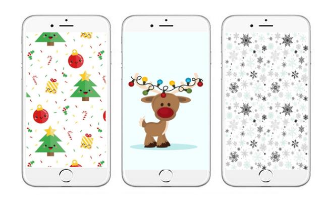 58801 5wal - 15x de allerleukste kerst achtergronden voor je mobiel.