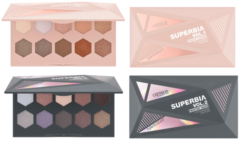 SUPERBIA VOL.1 2 EYESHADOW PALETTES - CATRICE ASSORTIMENT UPDATE LENTE / ZOMER 2019