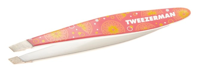 Mini Slant tweezer pink lemonade - PREVIEW │ TWEEZERMAN GET TROPICAL MINI TWEEZERS