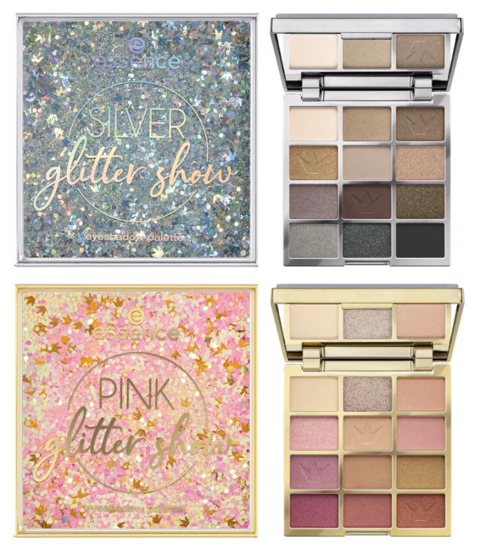 Essence glitter show eyeshadow palettes - PREVIEW │CATRICE & ESSENCE LIMITED EDITION 'ROYAL PARTY'