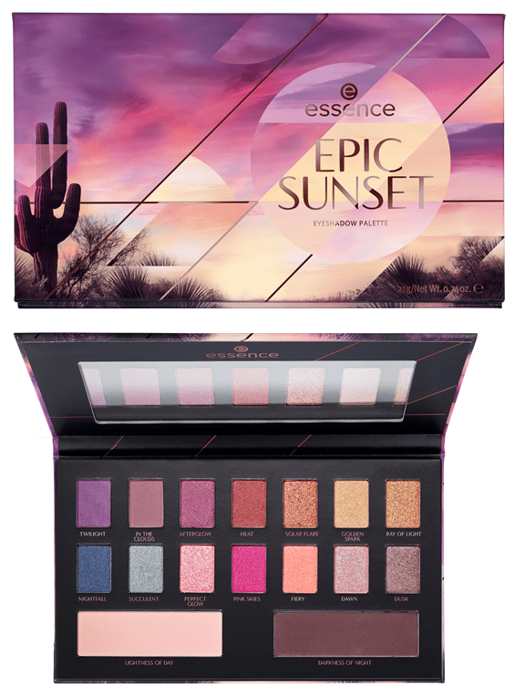 Epic sunset eyeshadow palette - PREVIEW │ ESSENCE HERFST / WINTER UPDATE 2019