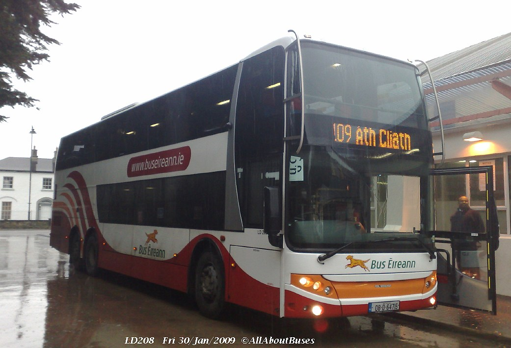LD208, one of Bus Eireann's new luxury double-deck commuter coaches, seen at Cavan Bus Station