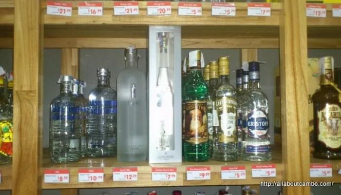 цены на водку в камбодже