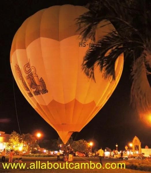 воздушный шар в камбодже