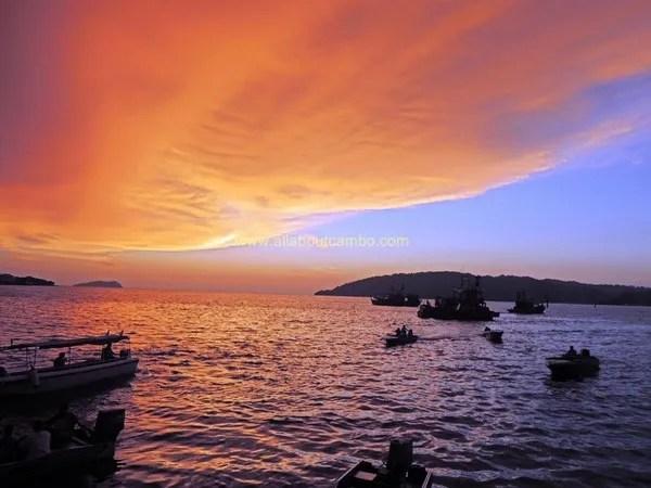 красивые закаты на борнео