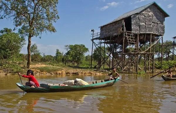 рыбацкая деревня Камбоджа