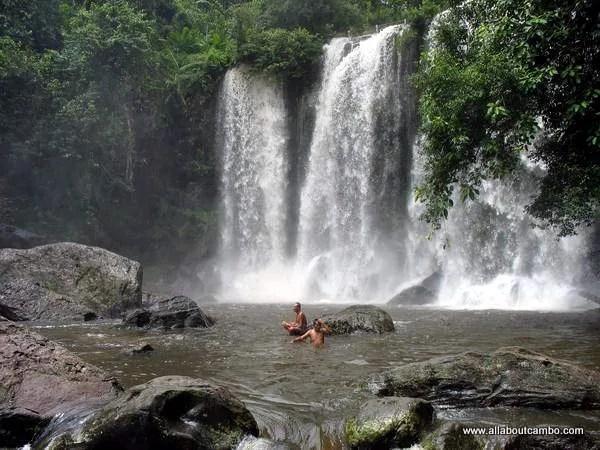 водопад в Камбодже