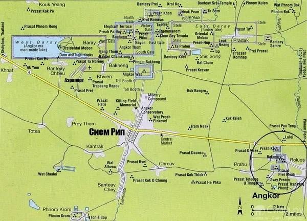 карта Ангкора