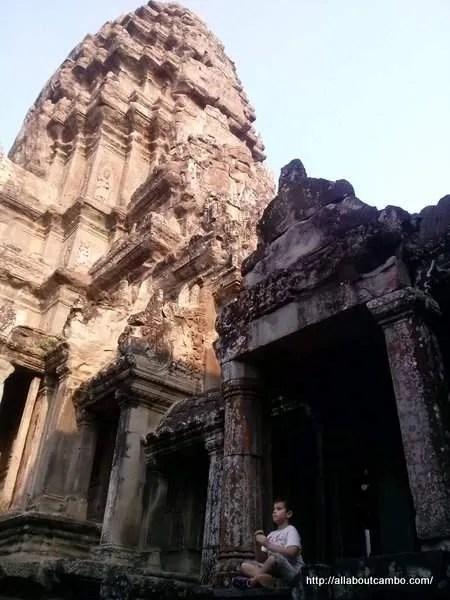 на башне Ангкора