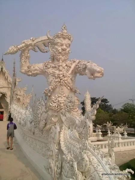 демон белый храм