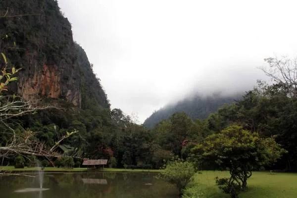 Лесной монастырь в Тайланде
