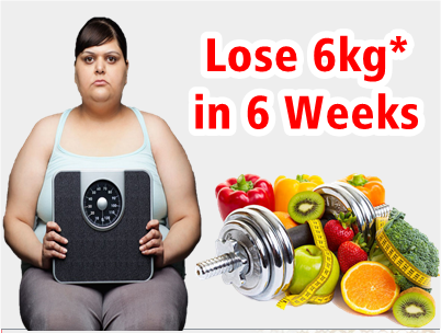 Lose upto 6kg in 6 Weeks