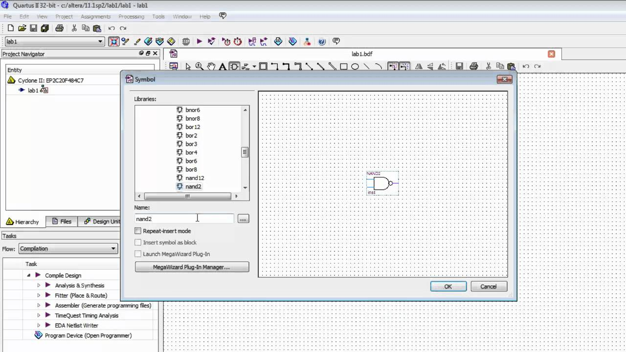 Working with Altera Quartus II Software