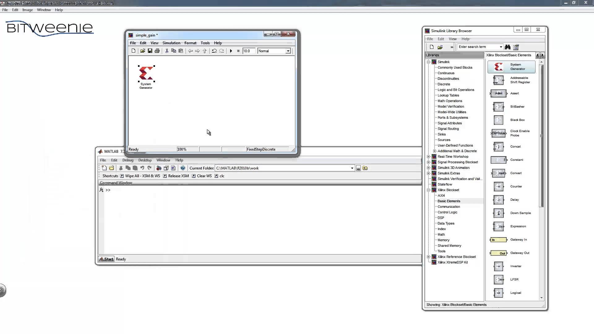Xilinx System Generator Matlab Tutorial