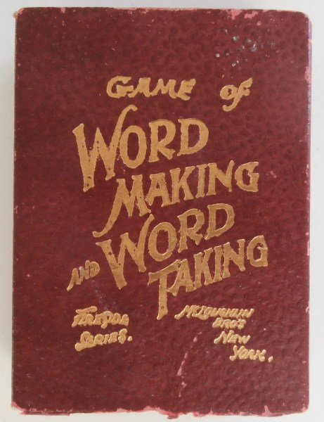 1900 s Mcloughlin Game of Word Making and Word Taking     All About     Long before Scrabble was first published in 1948  players battled to create  words for the most points in card games  like Logomachy  and in the  following