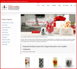 Luxury Wedding Decorative Candles
