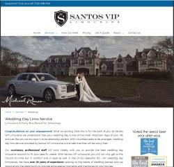 Santos VIP Limousine Website