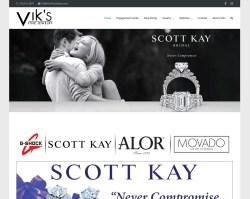 Vik's Fine Jewelers Website