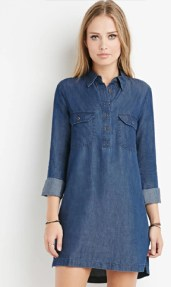 Forever 21 Chambray Shirt Dress