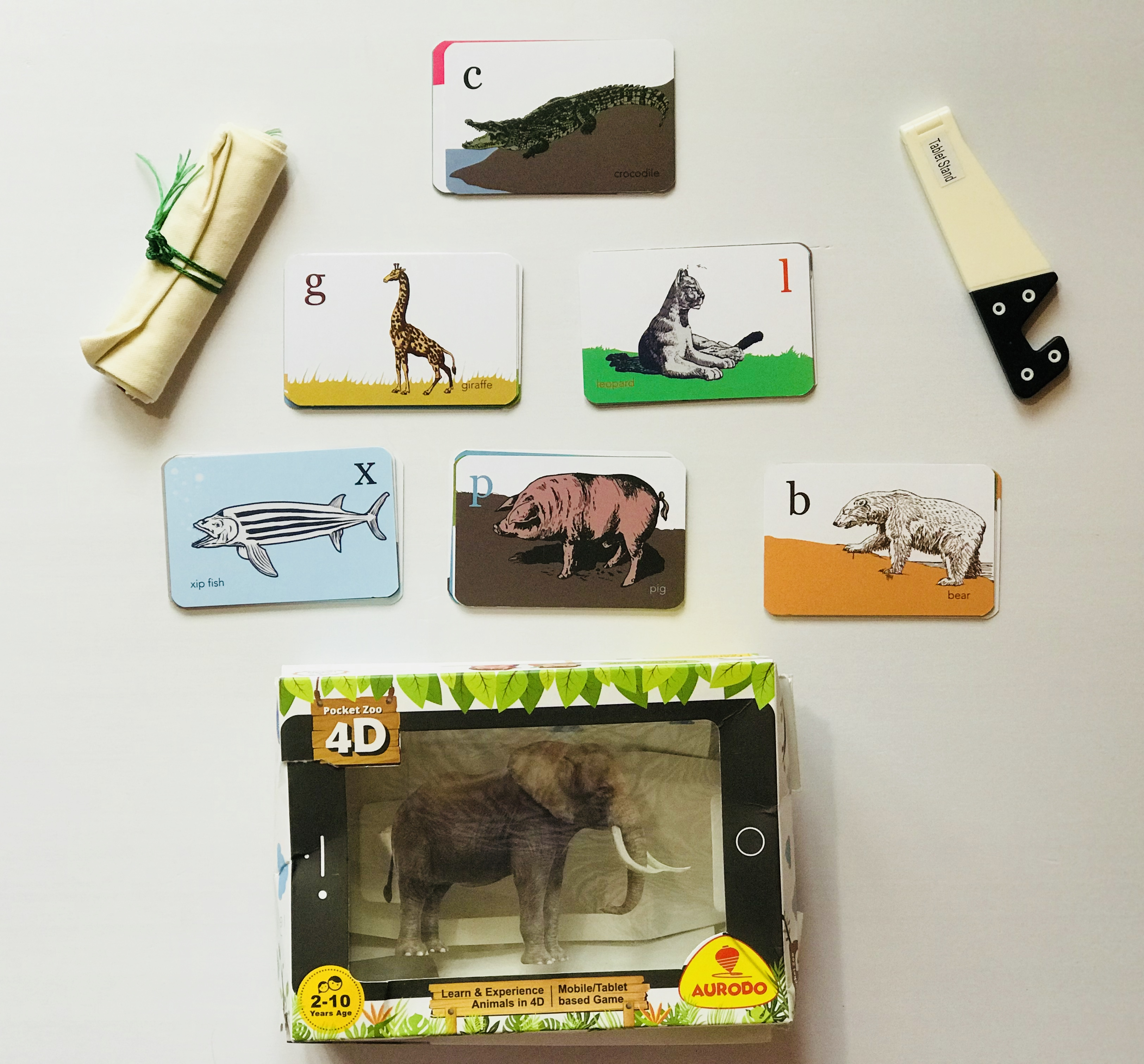 Aurodo Pocket Zoo 4D: Augmented reality game