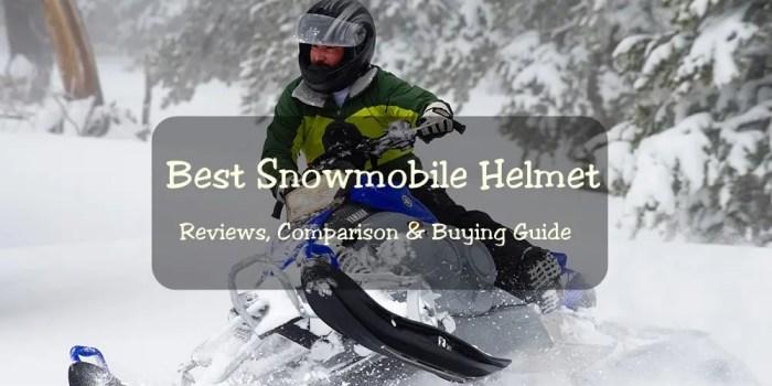 Best Snowmobile helmets