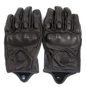 FXC Full Finger Motorcycle Leather Gloves Men's Premium Protective Motorbike Gloves