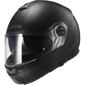 LS2 Helmets Strobe Solid Modular Motorcycle Helmet with Sunshield