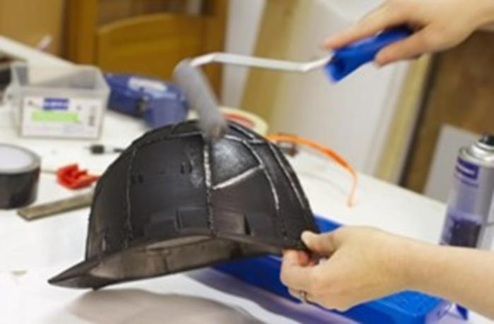 how to paint amotorcycle helmet