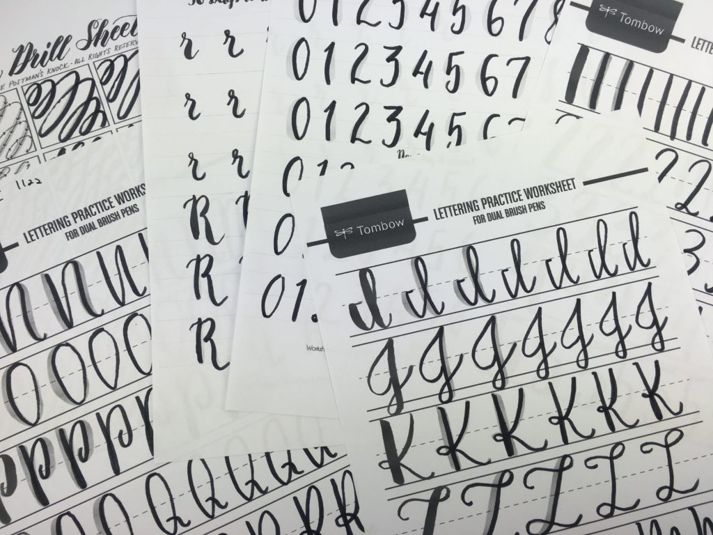 Practicing Calligraphy Free Printable Brush Lettering