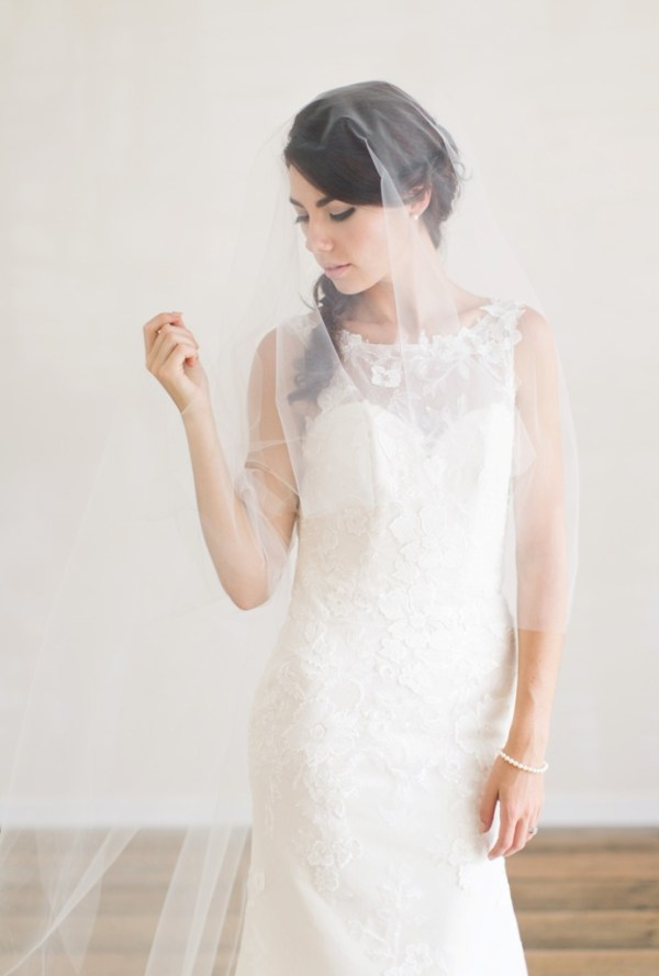 Veil | Chapel length Veil with Blusher
